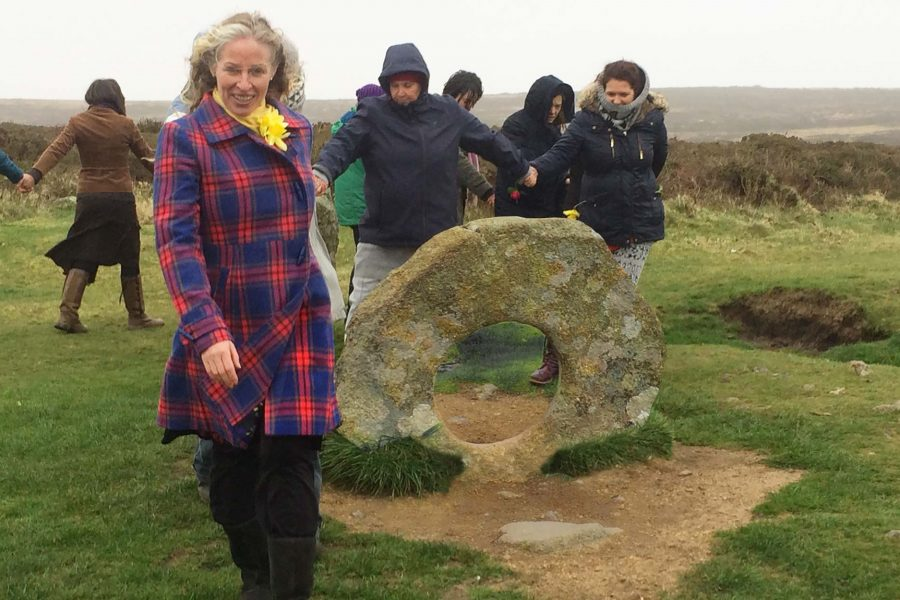 Spring Equinox Red Tent Cornwall Ceremony at Men-An-Tol