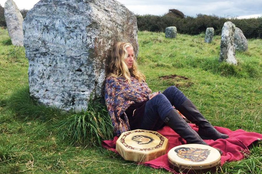Autumn Equinox Red Tent Cornwall Ceremony at Boscowen-Un Stone Circle